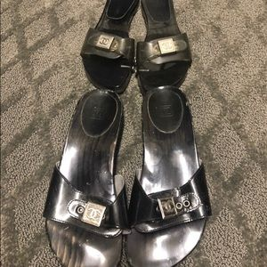 Authentic Chanel 37 sandals 2 pair, good condition